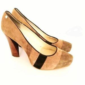 Calvin Klein color block suede shoes size 8 M
